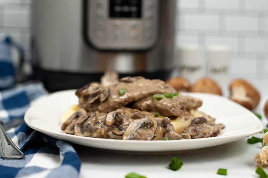 Horizontal image of Instant Pot Salisbury Steak