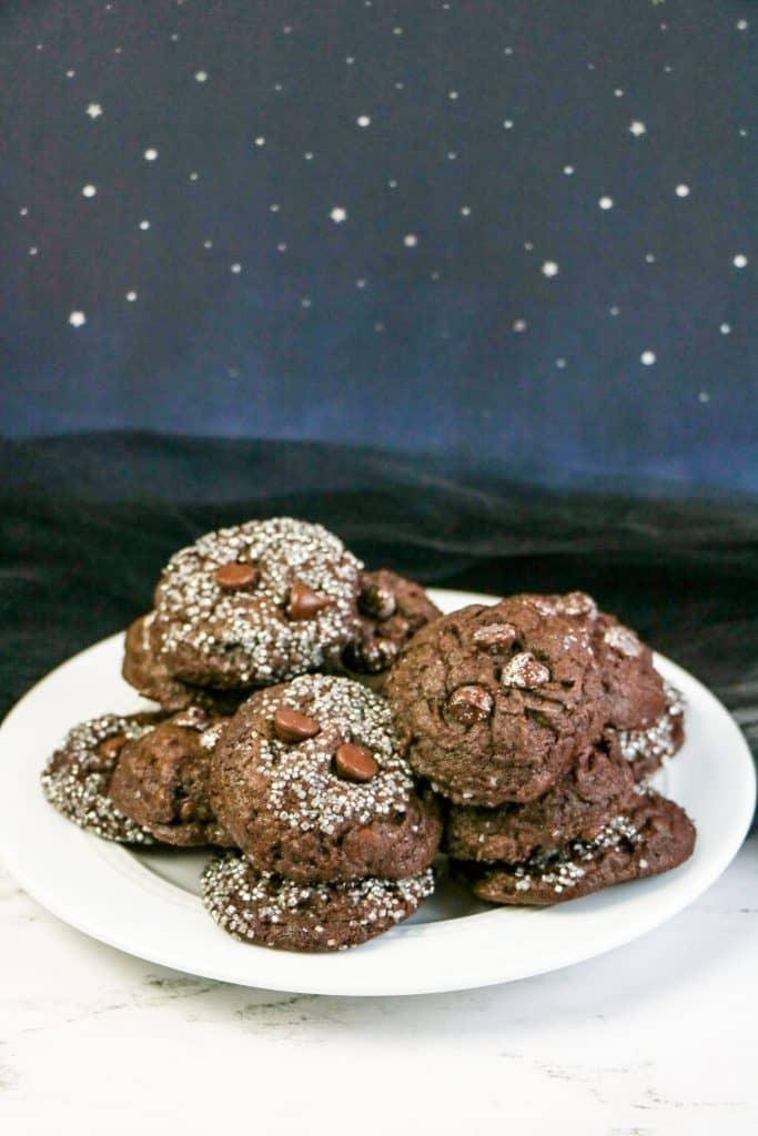 Double Chocolate Galaxy Cookies