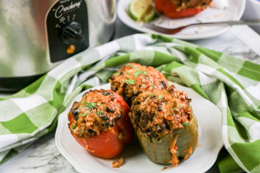 Slow Cooker Mexican Stuffed Peppers close up