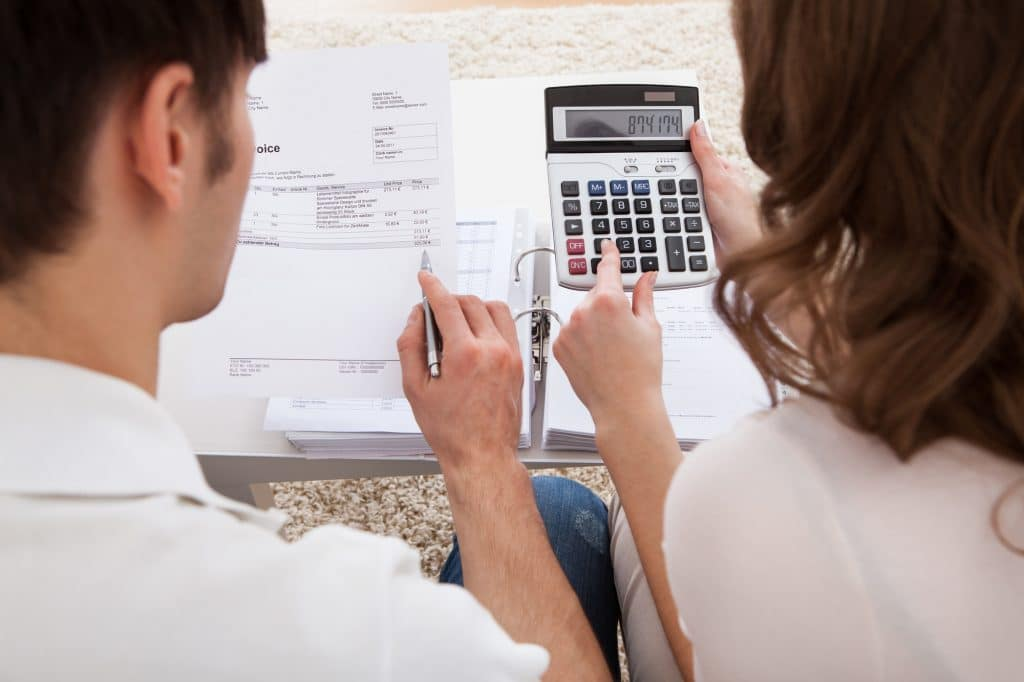 Couple Working on Budget